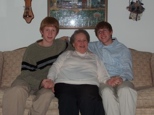 Grandma Ronnie with Matt and I a few years ago